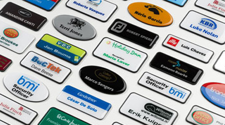 name badges machine