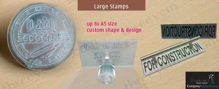 Big size Rubber Stamp