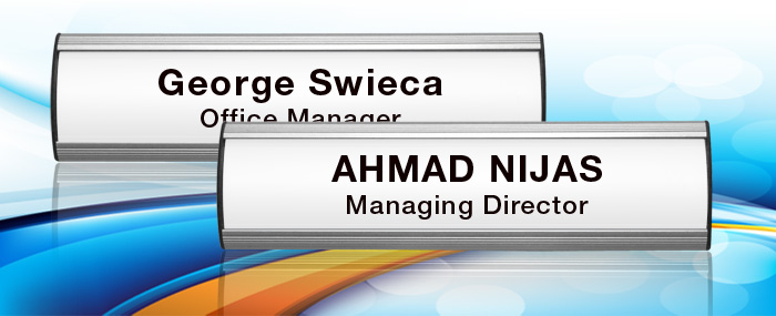 curve type office name plate