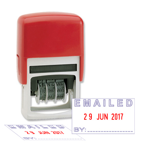 Emailed Stamp with changeable date
