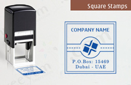 Self Inking Square Company Stamps