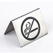 No smoking sign for table